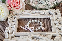 WHITE & PINK BEADS FOR BRIDESMAIDS