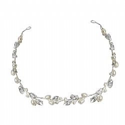 CLASSIC CRYSTAL AND PEARL HAIRVINE