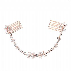 DAINTY CRYSTAL HAIRVINE - ROSE GOLD